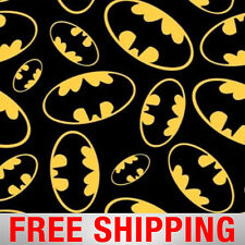 "Fleece Fabric Batman Logo 60"" Wide Style 0063 Free Shipping"