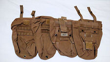 (1) USMC Dump Pouch, Ammo bag, with Pull String. Color- Khaki