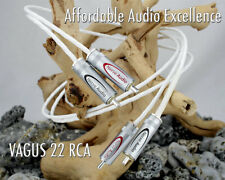 Nerve Audio Vagus 22 RCA Audio Interconnect Cables Silver Plated OFC 1 meter