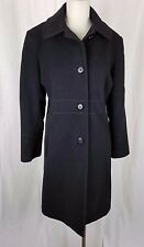 Vintage JG Hook Winter Wool Cashmere Exposed Stitching Coat Womens 12 Black 90s