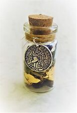 Witch Bottle Battery spell Kit for Wealth & Money Magical Herb Spell Gold Leaf