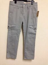 "Women DKNY Size 2 Grey Cropped 3/4 Jeans Pockets 28x31"" RRP £148"