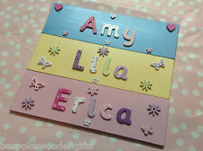Personalised Children Bedroom Nursery Wooden Name Door Wall Sign Plaque Boy Girl
