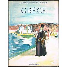 GRÈCE par Jeanne & Georges ROUX Couverture Yves BRAYER Delphes Rhodes Grecs 1957
