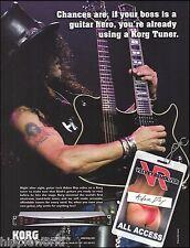 Velvet Revolver Slash Korg Tuner for Guild double neck guitar 8 x 11 ad