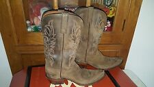 LUCCHESE  WOMENS BOOTS  WESTERN COWBOY BOOTS SIZE 11 O/B UNIQUE DESIGN