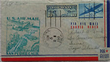 UNITED STATES 1941 PAN AMERICAN FAM 19 FIRST FLIGHT COVER SAN PEDRO TO FIJI