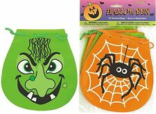 Halloween Party Supplies Trick or Treat / Loot Draw String Bags 10pack