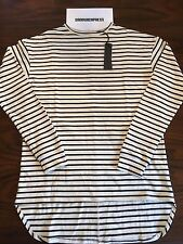 FEAR OF GOD SSENSE EXCLUSIVE CREAM BLACK STRIPED LONG SLEEVE T-SHIRT Sz L LARGE
