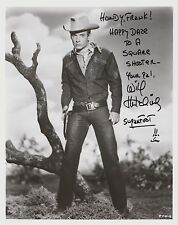 Will Hutchins   Autograph, Original Hand Signed Photo
