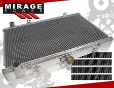 FOR 89-93 NISSAN SKYLINE R32 RB25 RB20 ALUMINUM RACE RADIATOR DUAL ROW MT MANUAL