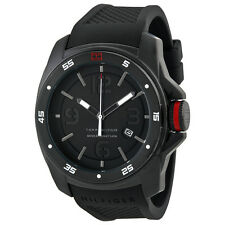 Tommy Hilfiger Black Dial Black Silicone Mens Watch 1790708