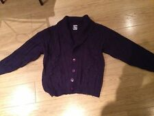 Vintage Retro 1980's Purple chunky Cardigan Size 14 (though it's the 80s so ^18)