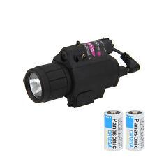Red Dot Laser Sight Scope&CREE LED Flashlight Torch Rifle/Gun Hunting Mount Rail