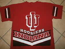 vtg 90s INDIANA HOOSIERS JERSEY T SHIRT Basetball IU Red Free USa Ship ADULT XL