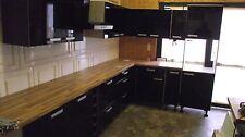 Top Winkelküche IP 4050 Dekor hochglanz schwarz,L-Form 335 x 205 cm Sonderpreis