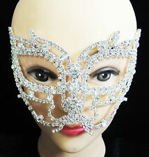 Crystal Rhinestone Butterfly Face Venetian Masquerade Party Mask