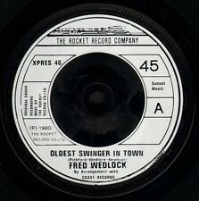 """FRED WEDLOCK oldest swinger in town/the jogger's song XPRES 46 uk 1987"""" WS EX/"""