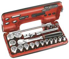 Facom 21pc 1/2in Square Drive Metric Socket Set 8 - 32mm Includes SL.161 Ratchet