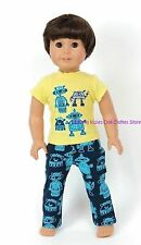 Robot Pajamas Doll Clothes Made For 18 or 15 in American Girl Boy Dolls
