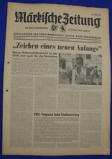 """MÄRKISCHE ZEITUNG 1968 Nr. 22: """"Zeichen eines neuen Anfangs"""""""