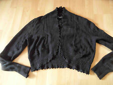 S. Oliver Selection Chic Bolero Cardigan Nero M. LUREX TG. 38 zc616 Merce Nuova
