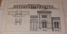 RICORDI DI ARCHITETTURA BIBLIOTECA PROGETTO MERCOLI MILANO LIBRARY 1892 93