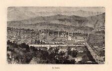 CUZCO VUE GENERALE OVERVIEW PEROU PERU IMAGE 1886 ENGRAVING