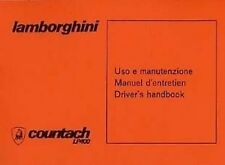 Lamborghini Countach LP400 Car Handbook Instruction book Catalogue Manual Paper