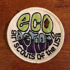 "Girl Scouts of The USA Eco Action Embroidered Sew on Patch (3"")"