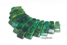 CHRYSOCOLLA GEMSTONE FOREST GREEN LOOSE BEADS GRADUATED SET 11 BEADS