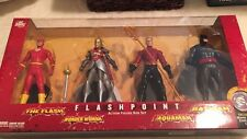 DC DIRECT FLASHPOINT ACTION FIGURE BOX SET FLASH WONDER WOMAN AQUAMAN BATMAN NEW