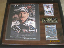 "Dale Earnhardt ""Reflections"" 2001 Plaque 12"" x 15"" # 3 Goodwrench Nascar j58"