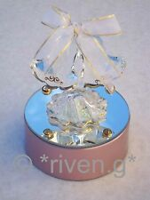 Light Up@WEDDING BELLS@GOLD & WHITE RIBBON@22Ct@ENGAGEMENT@CAKE TOPPER@TOP TABLE