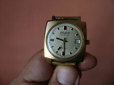 Old  GERMAN GDR MODEL collectors  WATCH GLASHUTTE SPEZMATIC 26 JEWELS GOLD AU 10