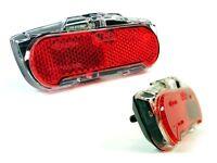 Fahrrad LED Rücklicht AXA Slim Dynamo & E-Bike Standlicht Klarglas Gepäckträger