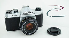 PENTAX K1000 GREAT COND. NEW LIGHT SEALS WORKING w/50mm f/2 PENTAX LENS