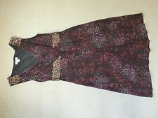 Monsoon black and gold sequin evening dress size 8 excellent condition