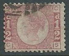 1870 GRAN BRETAGNA USATO EFFIGIE 1/2 P NUMERO TAVOLA 5 - U2-3