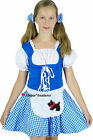 Girls Wizard of Oz Darling Dorothy Fancy Dress Costume - S M L 4 5 6 7 8 9 10 12