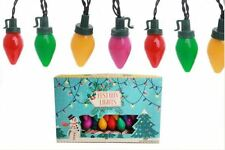 set of 20 coloured vintage retro style FESTOON fairy xmas christmas tree lights