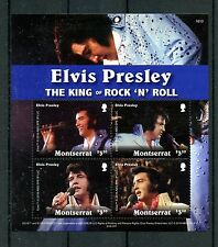Montserrat 2016 MNH Elvis Presley King Rock 'n Roll 4v M/S Music Stamps
