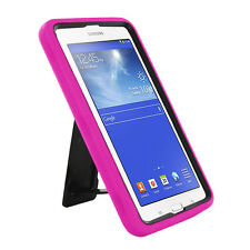 Pink 2in1 Hybrid Case Skin Cover For Samsung Galaxy Tab E Lite 7.0 / 3 7""