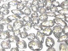 80x TRANSPARENTE Facetado Acrílico Para Coser,Adhesivo DIAMANTE cristal