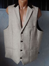 Marc Darcy Mens Knit Waistcoat Size 48R Light Brown