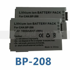 2pk Battery for BP-208 BP-208DG Canon DC10 DC100 DC20 DC201 DC21 DC210 DC211