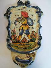 Weihwasser Keramik mit Schale/ Bauer sät -Motiv 15 cm  x 10 cm aus Spain Nr. 11