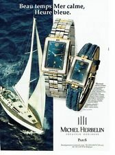 PUBLICITE ADVERTISING 126  1998 montre Michel Herbelin  Newport