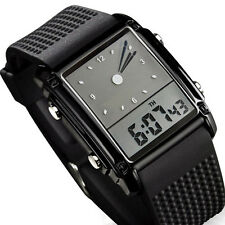 "New Waterproof Mens Boy""s Digital LED Quartz Alarm Date Analog Sports WristWatch"