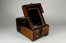 Antique rustic jewellery box with mirror stand and bird design